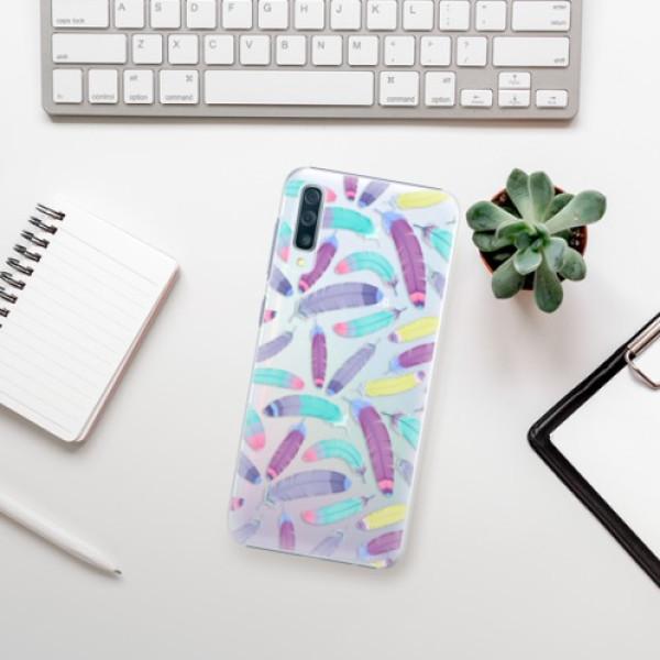 Plastové pouzdro iSaprio - Feather Pattern 01 - Samsung Galaxy A50