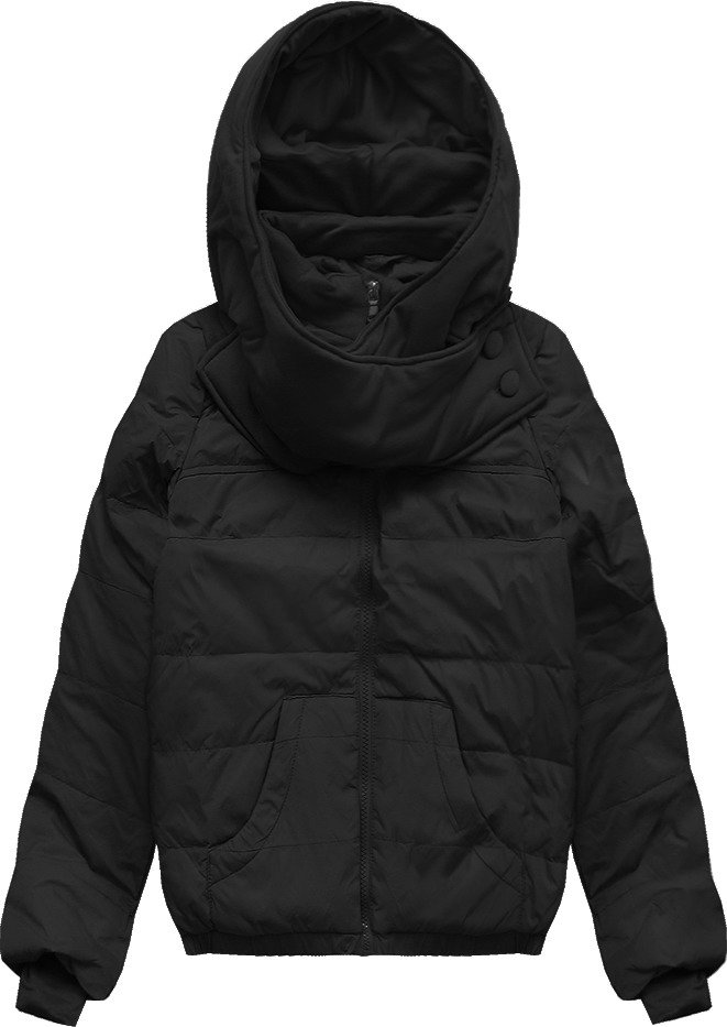 Černá prošívaná bunda s přírodní péřovou výplní (1988)