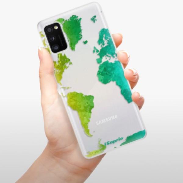 Odolné silikonové pouzdro iSaprio - Cold Map - Samsung Galaxy A41