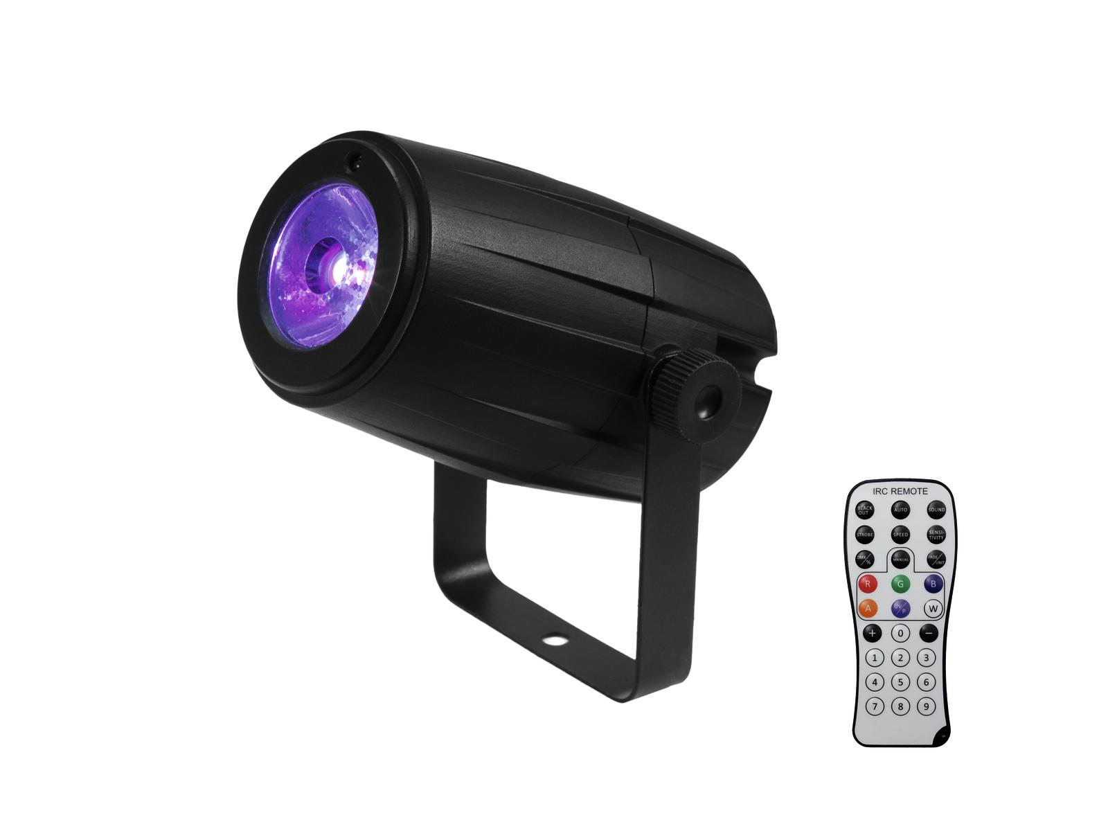 Eurolite LED PST-5 Spot reflektor, 1x5W QCL, IR, černý