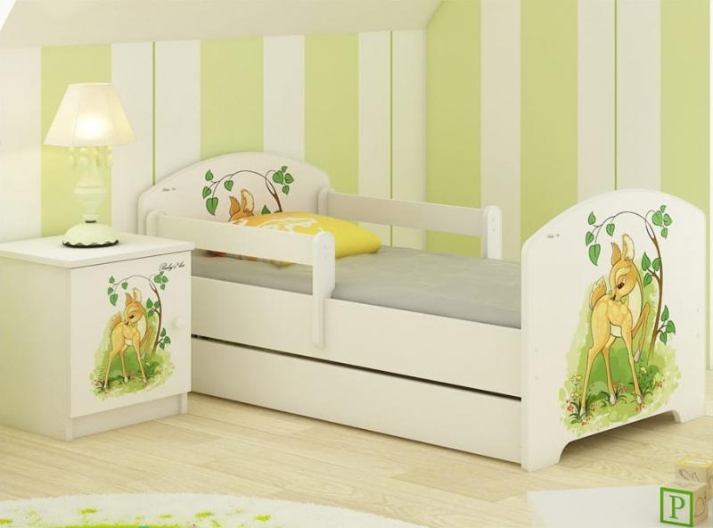 babyboo-detska-postel-lux-s-motivem-bambi-140-x-70-cm