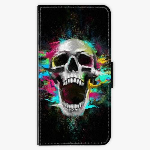 Flipové pouzdro iSaprio - Skull in Colors - Huawei P9 Lite Mini