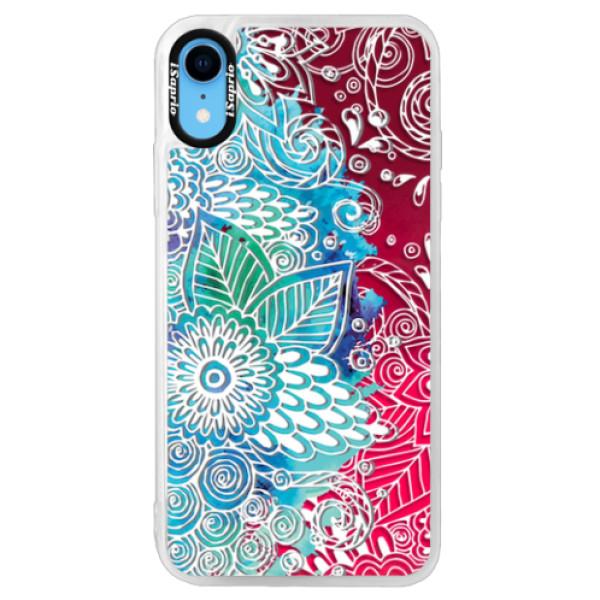 Neonové pouzdro Pink iSaprio - Lace 03 - iPhone XR