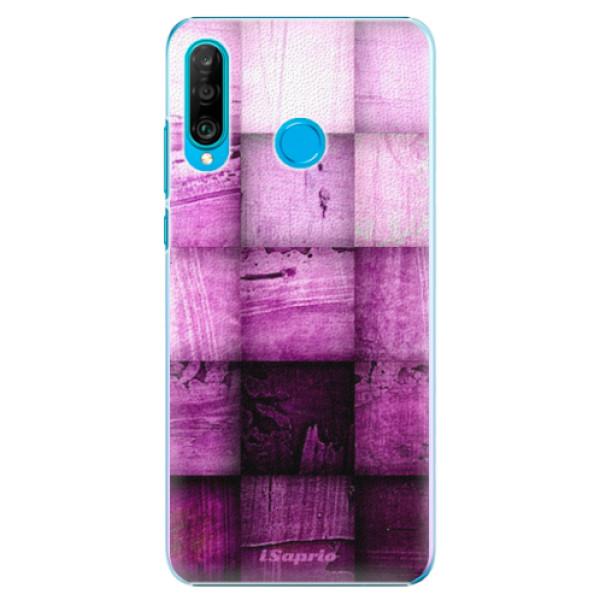 Plastové pouzdro iSaprio - Purple Squares - Huawei P30 Lite