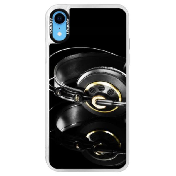 Neonové pouzdro Pink iSaprio - Headphones 02 - iPhone XR