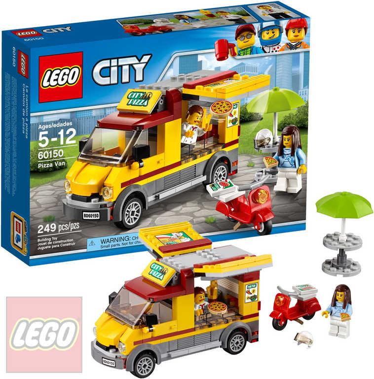 LEGO CITY Dodávka s pizzou 60150 STAVEBNICE