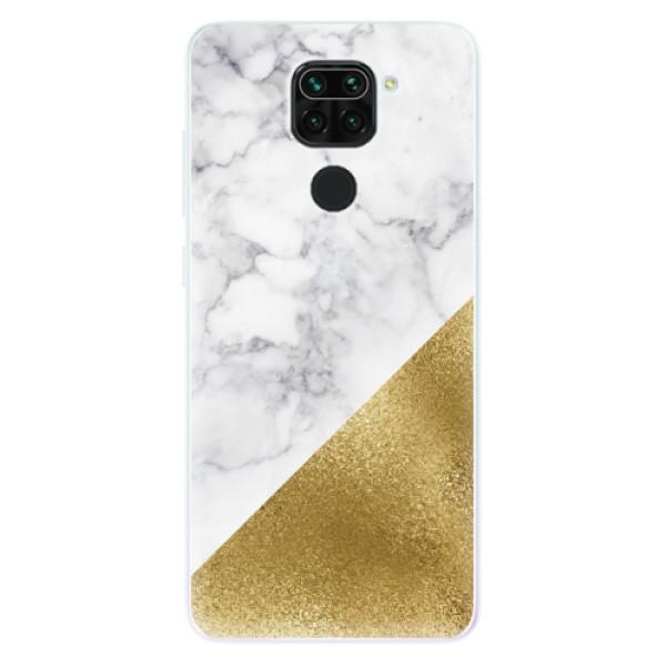 Odolné silikonové pouzdro iSaprio - Gold and WH Marble - Xiaomi Redmi Note 9