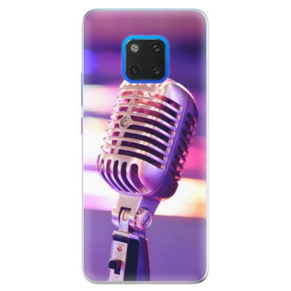 Silikonové pouzdro iSaprio - Vintage Microphone - Huawei Mate 20 Pro