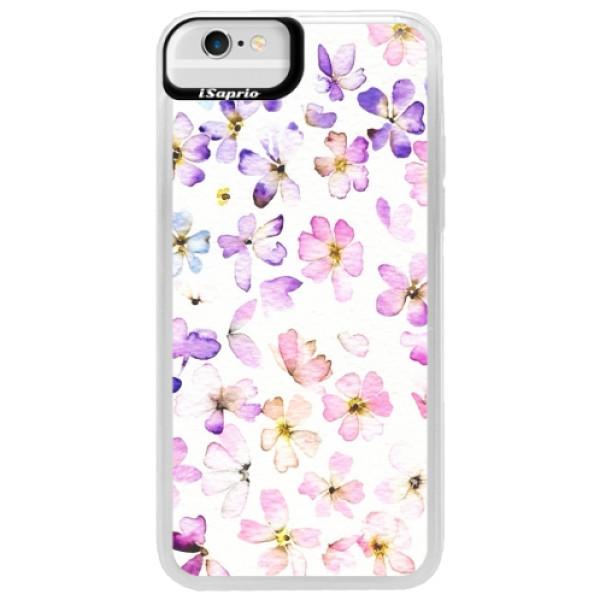 Neonové pouzdro Blue iSaprio - Wildflowers - iPhone 6/6S
