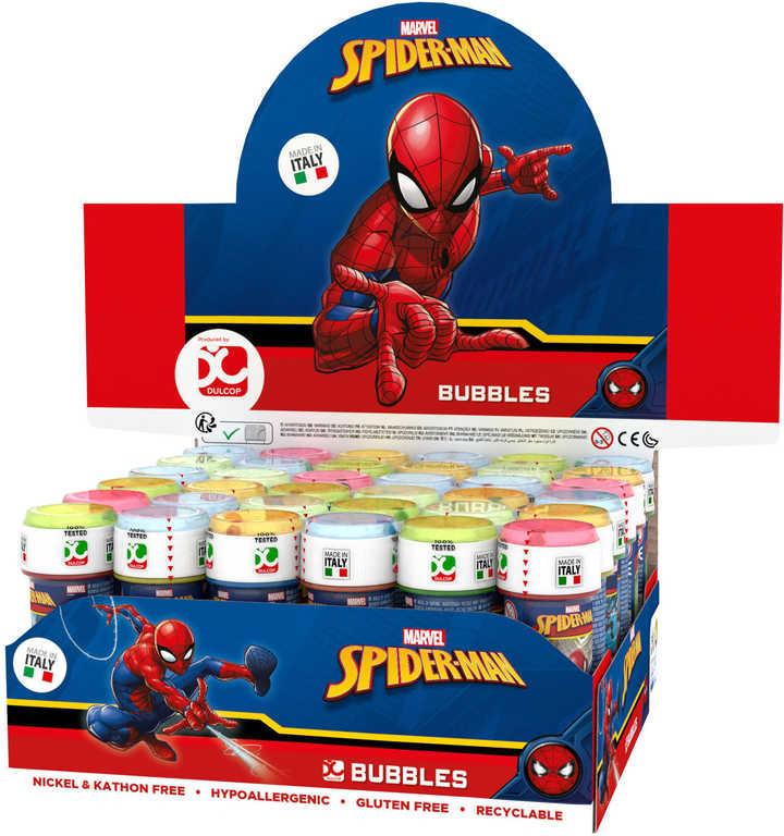 Bublifuk Spiderman 60ml dětský bublifukovač s hrou ve víčku