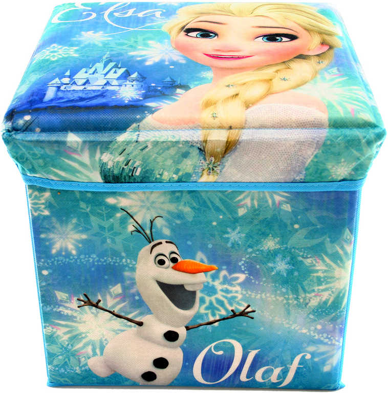 Box dětský úložný 32x32cm Frozen (Ledové Království) modrá krabice na hračky