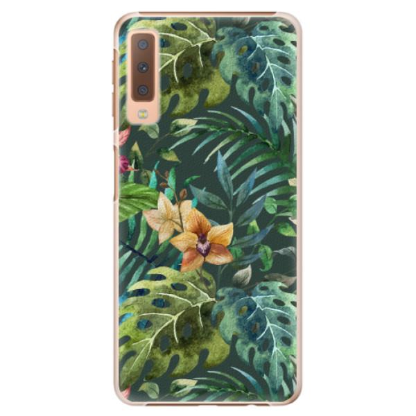 Plastové pouzdro iSaprio - Tropical Green 02 - Samsung Galaxy A7 (2018)