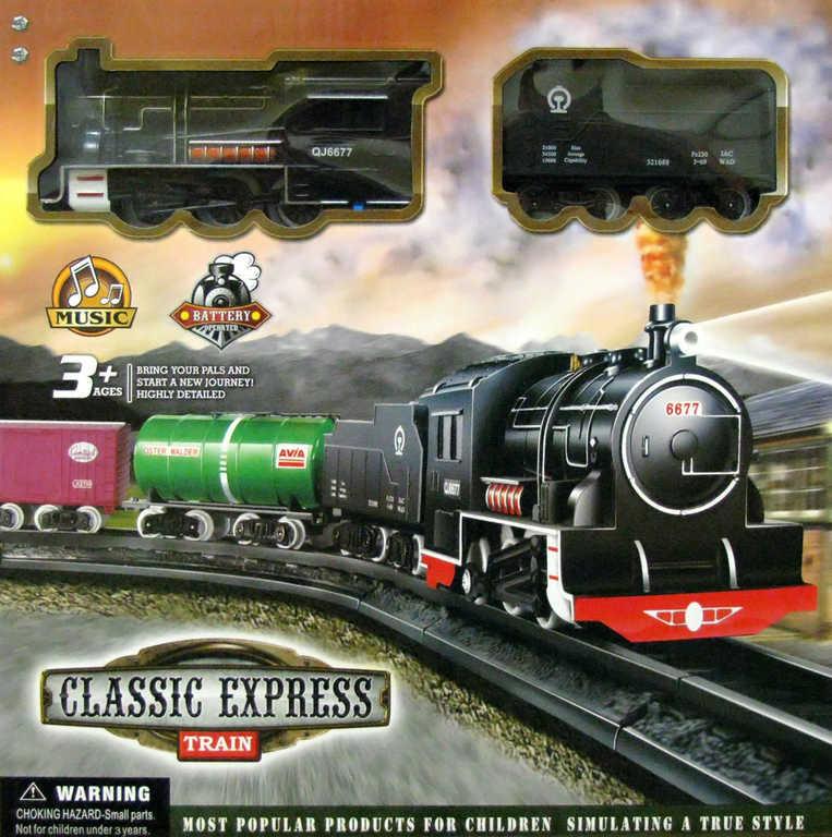 Souprava vlaková Classic Express set dětský vláček s kolejemi na baterie