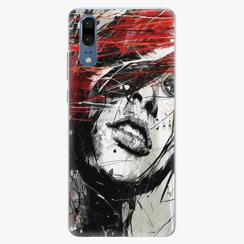 Silikonové pouzdro iSaprio - Sketch Face - Huawei P20