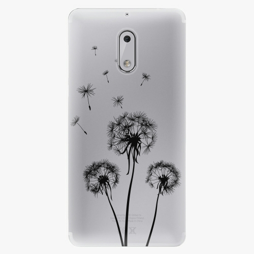 Plastový kryt iSaprio - Three Dandelions - black - Nokia 6