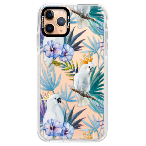 Silikonové pouzdro Bumper iSaprio - Parrot Pattern 01 - iPhone 11 Pro Max