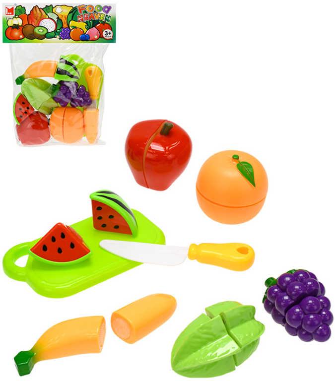 Sada kuchyňská krájecí ovoce na suchý zip set s nožíkem a prkýnkem v sáčku