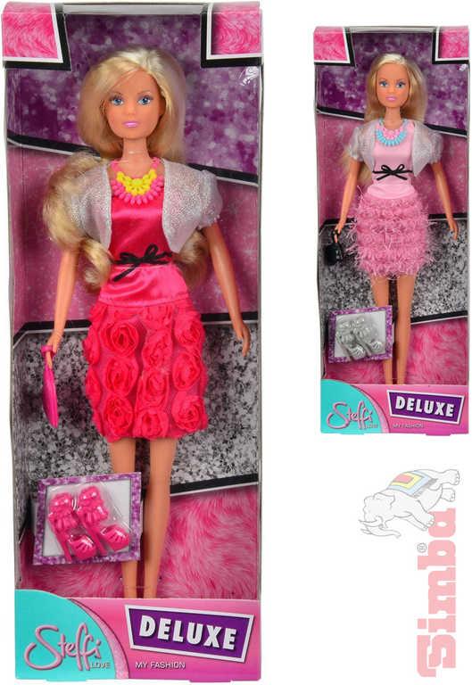 SIMBA Panenka Steffi Deluxe 29cm luxusní šaty set s doplňky 2 druhy