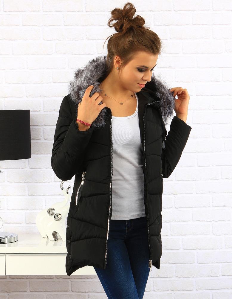 Dámská prošívaná bunda s kapucí (ty0135) - Pine House - Černá/XL