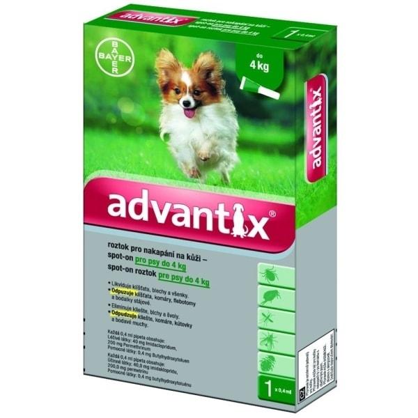 Antiparazitní pipeta pro psy od 4 - 10 kg, 1 x 1 ml