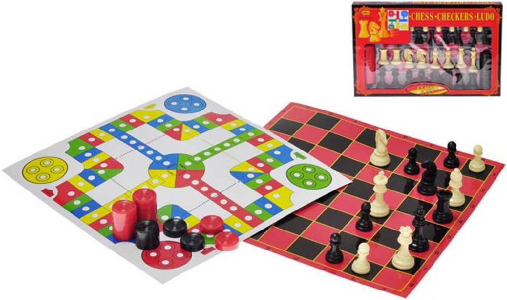 Soubor her Šachy + Dáma + Člověče, nezlob se 3v1 v krabici