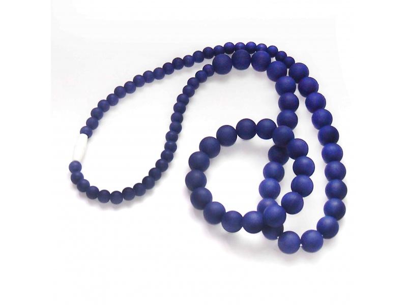MIMIKOI - Kojící korále a náramek - set - tmavě fialová
