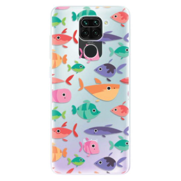 Odolné silikonové pouzdro iSaprio - Fish pattern 01 - Xiaomi Redmi Note 9