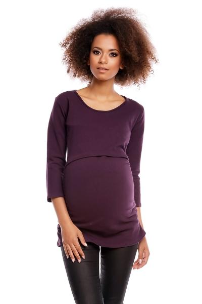 Těhotenská/kojící tunika 3/4 rukáv