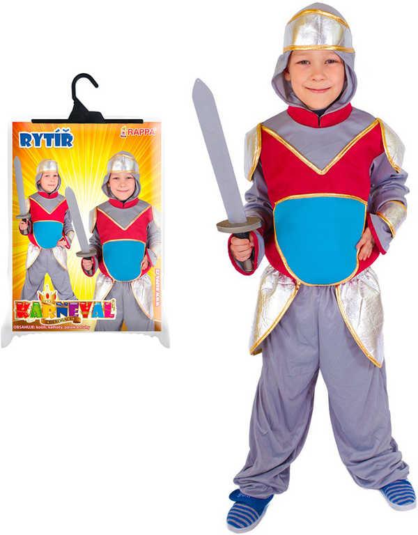 KARNEVAL Šaty rytíř s kapucí vel.M (6-8 let) KOSTÝM