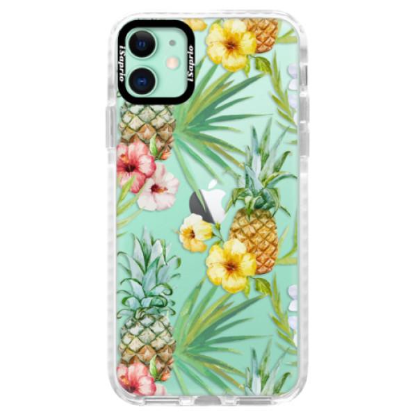 Silikonové pouzdro Bumper iSaprio - Pineapple Pattern 02 - iPhone 11
