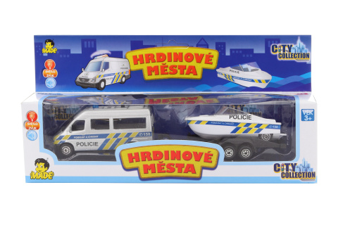 Policejní auto s člunem