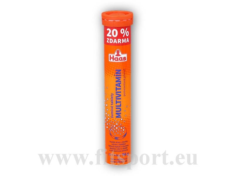 Haas Multivitamin 24 šumivých tablet pomeranč