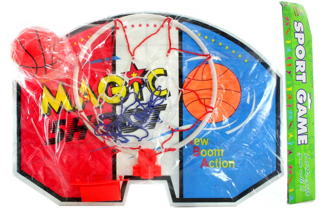 Koš basketbalový velký set s míčem na košíkovou
