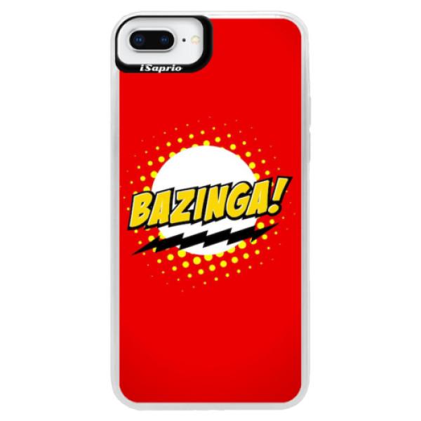 Neonové pouzdro Blue iSaprio - Bazinga 01 - iPhone 8 Plus