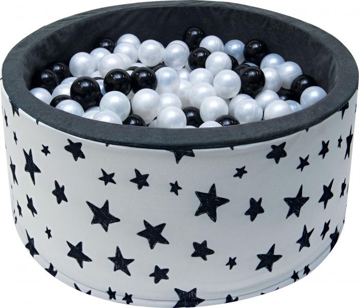 Bazén pro děti 90x40cm - tmavé hvězdy s balónky