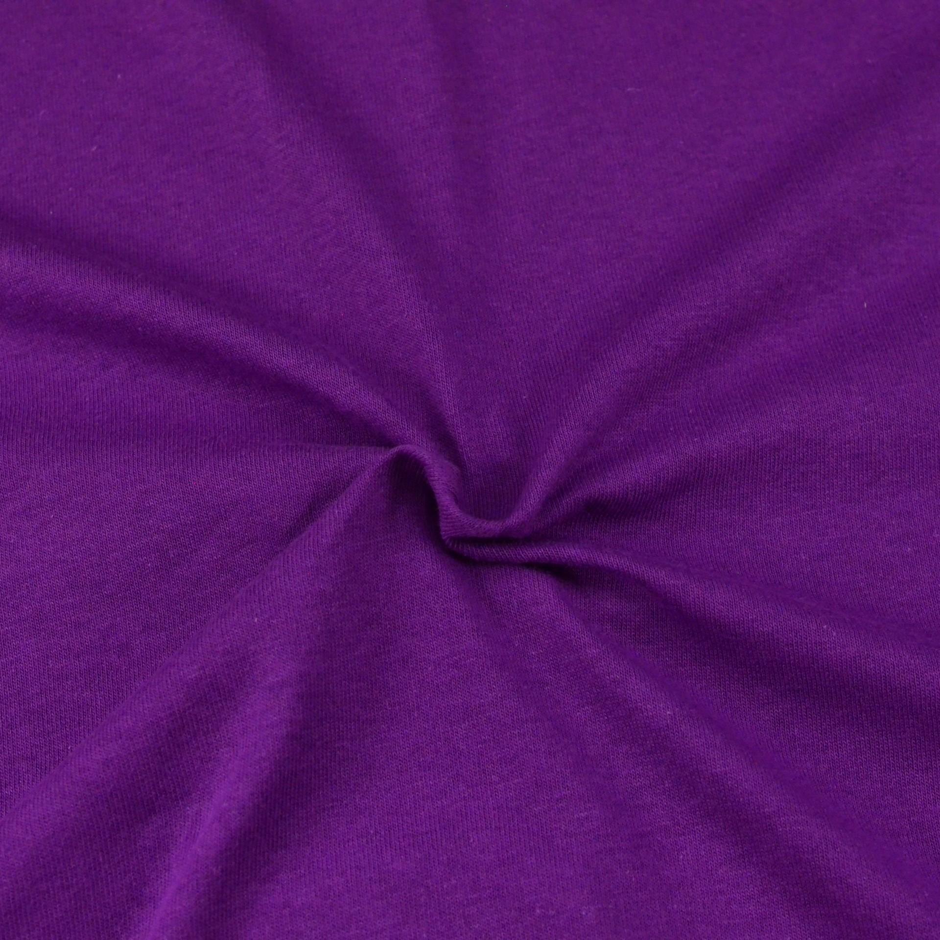 Jersey prostěradlo tmavě fialové, Výběr rozměru - 220x200cm