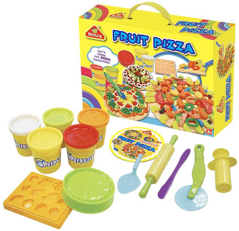 Pizza ovocná kreativní set modelína s nástroji v krabici