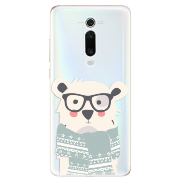 Odolné silikonové pouzdro iSaprio - Bear with Scarf - Xiaomi Mi 9T Pro