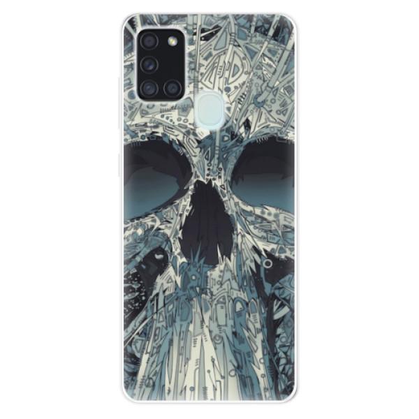 Odolné silikonové pouzdro iSaprio - Abstract Skull - Samsung Galaxy A21s
