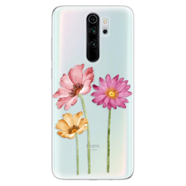Odolné silikonové pouzdro iSaprio - Three Flowers - Xiaomi Redmi Note 8 Pro