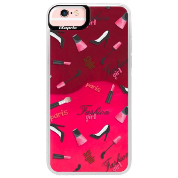 Neonové pouzdro Pink iSaprio - Fashion pattern 01 - iPhone 6 Plus/6S Plus