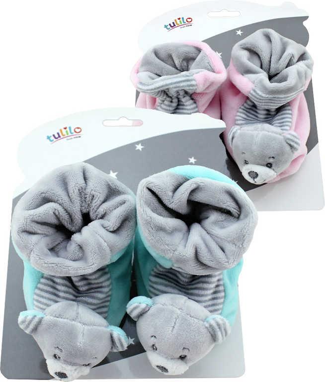 PLYŠ Baby botičky zvířátko s chrastítkem různé druhy a barvy pro miminko
