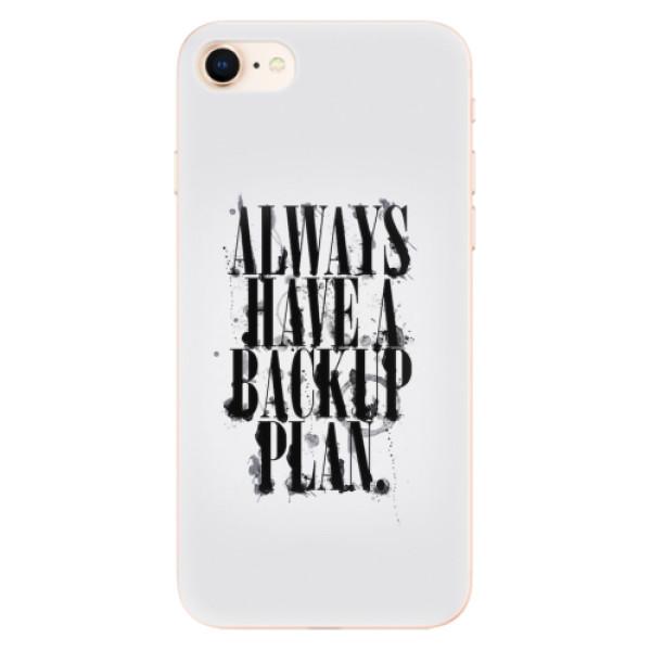 Odolné silikonové pouzdro iSaprio - Backup Plan - iPhone 8