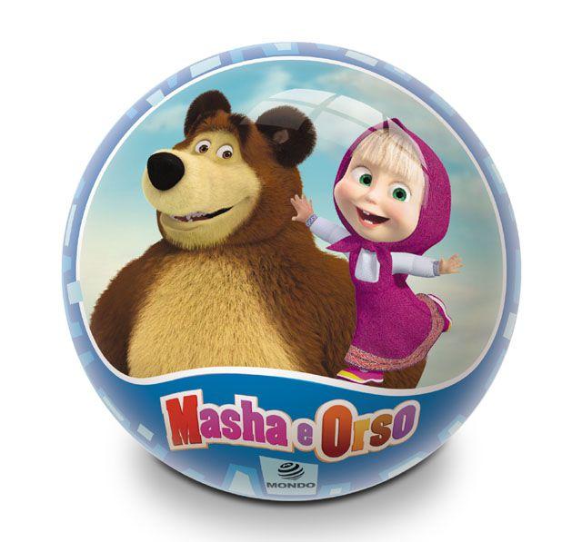 Míč potištěný Masha & Bear - 23 cm