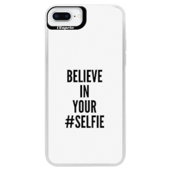 Neonové pouzdro Blue iSaprio - Selfie - iPhone 8 Plus