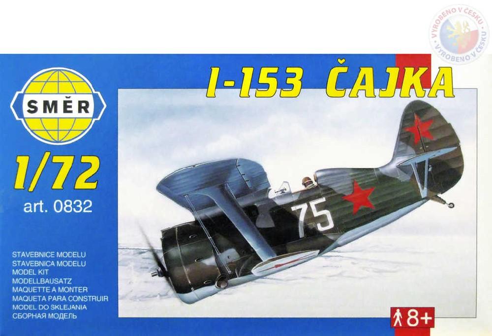SMĚR Model letadlo Polikarpov I153 1:72 (stavebnice letadla)