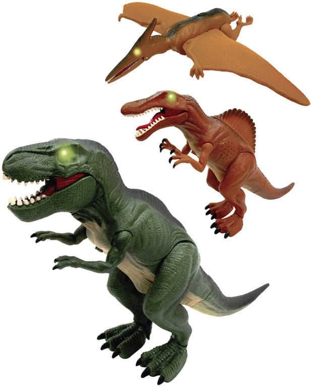 ADC Mighty Megasaur dinosaurus interaktivní na baterie 3 druhy Světlo Zvuk