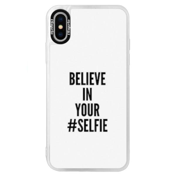 Neonové pouzdro Blue iSaprio - Selfie - iPhone XS