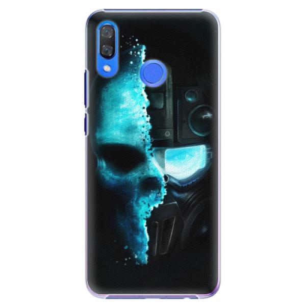 Plastové pouzdro iSaprio - Roboskull - Huawei Y9 2019