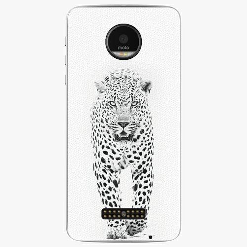 Plastový kryt iSaprio - White Jaguar - Lenovo Moto Z